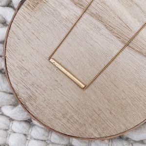 Madewell Snowstar Gold Bar Necklace